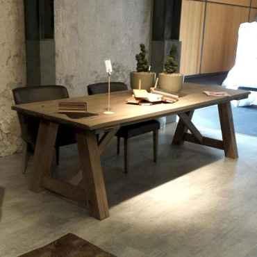 60 Brilliant Farmhouse Kitchen Table Design Ideas and Makeover (22)