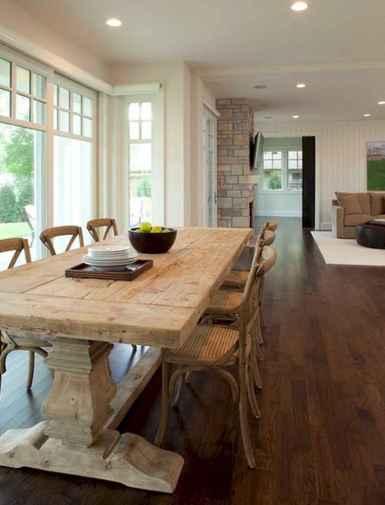 60 Brilliant Farmhouse Kitchen Table Design Ideas and Makeover (31)