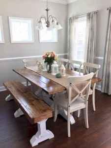 60 Brilliant Farmhouse Kitchen Table Design Ideas and Makeover (42)