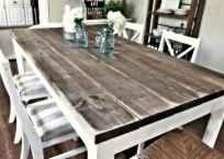 60 Brilliant Farmhouse Kitchen Table Design Ideas and Makeover (44)