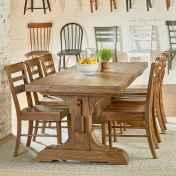 60 Brilliant Farmhouse Kitchen Table Design Ideas and Makeover (48)