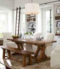 60 Brilliant Farmhouse Kitchen Table Design Ideas and Makeover (9)