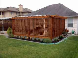 70 Gorgeous Backyard Privacy Fence Decor Ideas on A Budget (25)