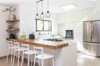 80 Modern Farmhouse Kitchen Lighting Decor Ideas and Remodel (17)