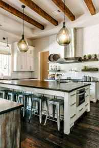 80 Modern Farmhouse Kitchen Lighting Decor Ideas and Remodel (23)