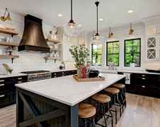 80 Modern Farmhouse Kitchen Lighting Decor Ideas and Remodel (8)