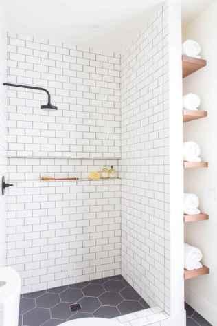 100 Farmhouse Bathroom Tile Shower Decor Ideas And Remodel To Inspiring Your Bathroom (10)
