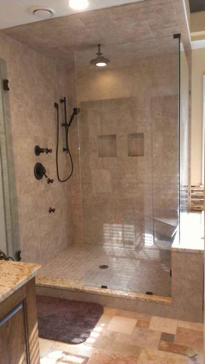 100 Farmhouse Bathroom Tile Shower Decor Ideas And Remodel To Inspiring Your Bathroom (26)