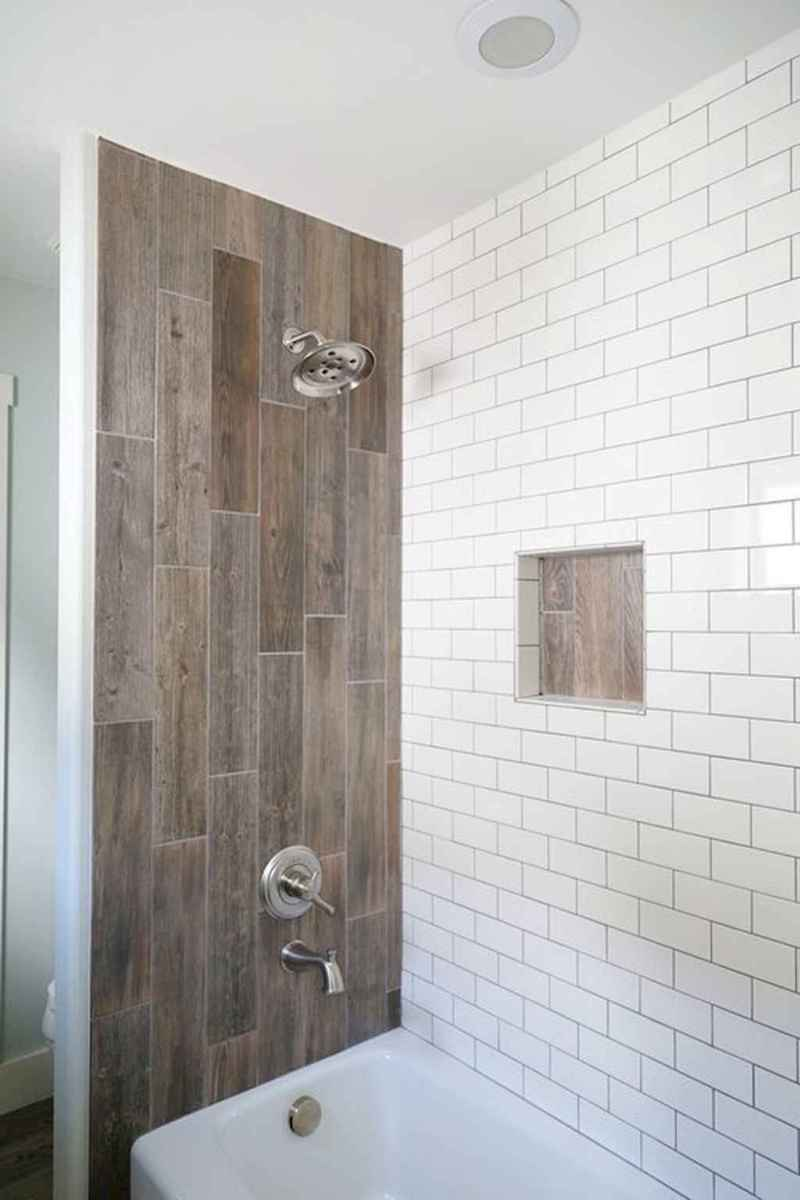 100 Farmhouse Bathroom Tile Shower Decor Ideas And Remodel To Inspiring Your Bathroom (43)