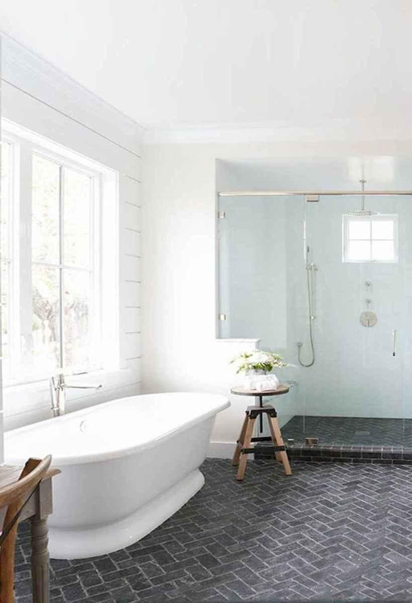 100 Farmhouse Bathroom Tile Shower Decor Ideas And Remodel To Inspiring Your Bathroom (45)