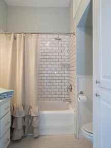 100 Farmhouse Bathroom Tile Shower Decor Ideas And Remodel To Inspiring Your Bathroom (49)