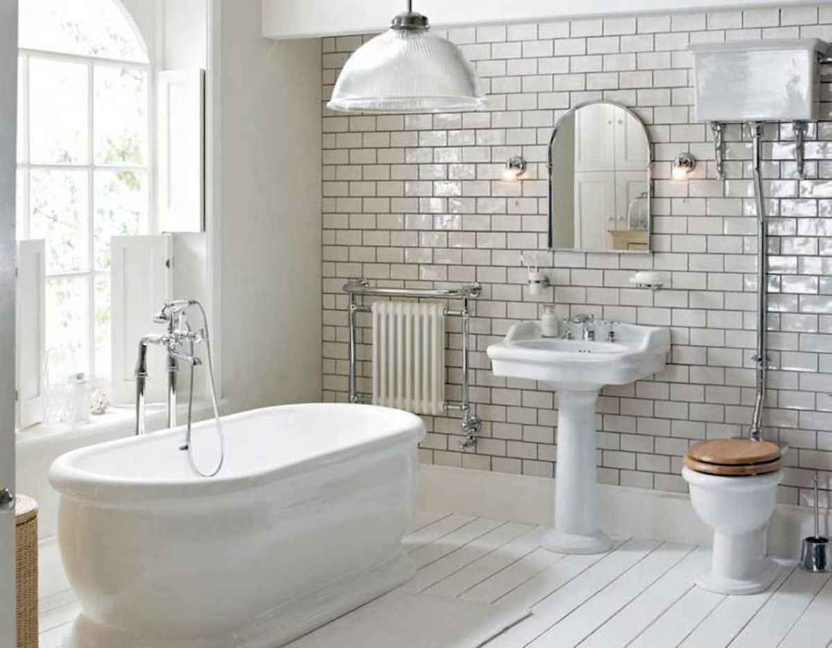 100 Farmhouse Bathroom Tile Shower Decor Ideas And Remodel To Inspiring Your Bathroom (5)