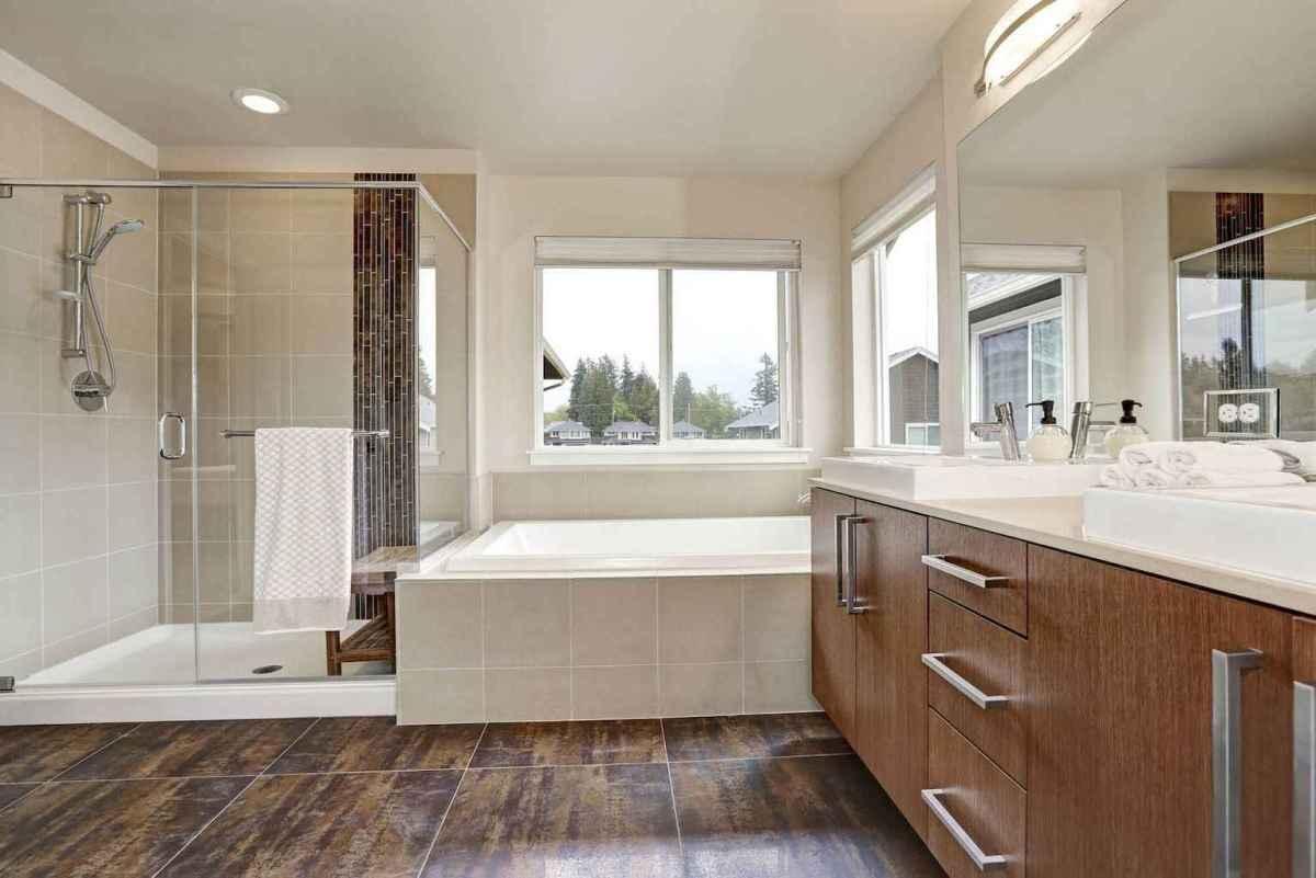 100 Farmhouse Bathroom Tile Shower Decor Ideas And Remodel To Inspiring Your Bathroom (86)