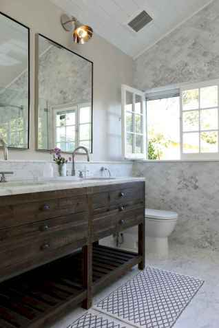 150 Awesome Farmhouse Bathroom Tile Floor Decor Ideas And Remodel To Inspire Your Bathroom (10)
