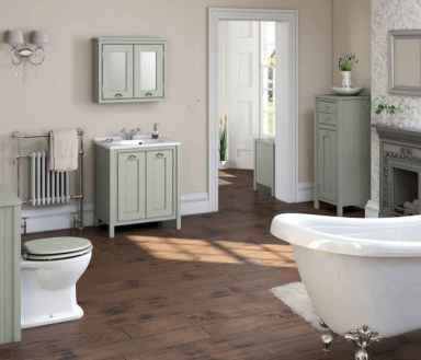 150 Awesome Farmhouse Bathroom Tile Floor Decor Ideas And Remodel To Inspire Your Bathroom (20)