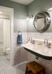 150 Awesome Farmhouse Bathroom Tile Floor Decor Ideas And Remodel To Inspire Your Bathroom (36)