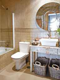 150 Awesome Farmhouse Bathroom Tile Floor Decor Ideas And Remodel To Inspire Your Bathroom (38)