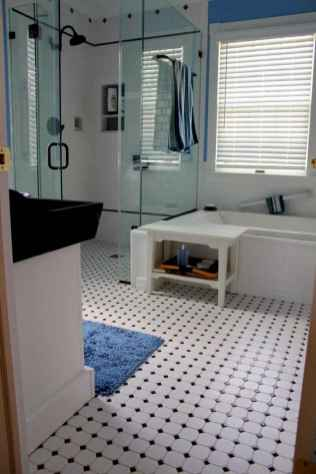 150 Awesome Farmhouse Bathroom Tile Floor Decor Ideas And Remodel To Inspire Your Bathroom (44)