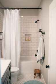150 Awesome Farmhouse Bathroom Tile Floor Decor Ideas And Remodel To Inspire Your Bathroom (7)