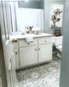 150 Awesome Farmhouse Bathroom Tile Floor Decor Ideas And Remodel To Inspire Your Bathroom (81)