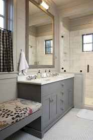 150 Awesome Farmhouse Bathroom Tile Floor Decor Ideas And Remodel To Inspire Your Bathroom (82)