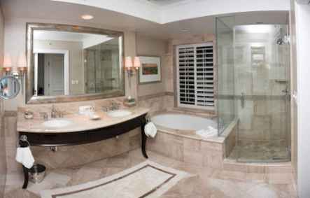 150 Awesome Farmhouse Bathroom Tile Floor Decor Ideas And Remodel To Inspire Your Bathroom (92)