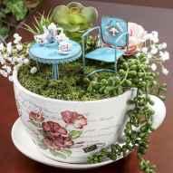 50 DIY Summer Garden Teacup Fairy Garden Ideas (27)