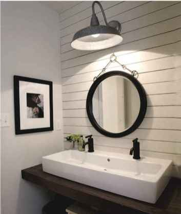 50 Lighting For Farmhouse Bathroom Ideas Decorating And Remodel (12)