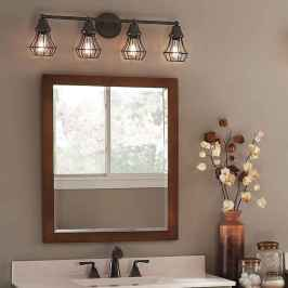 50 Lighting For Farmhouse Bathroom Ideas Decorating And Remodel (19)