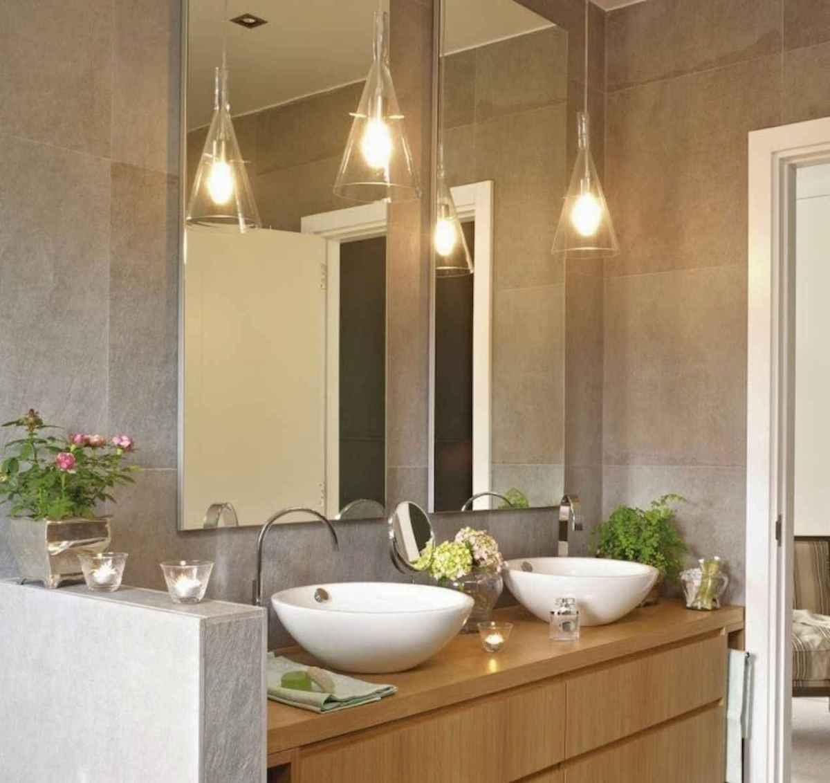 50 Lighting For Farmhouse Bathroom Ideas Decorating And Remodel (36)