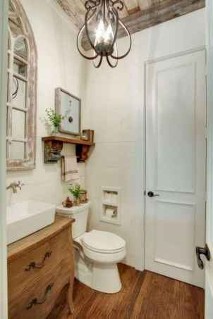 50 Lighting For Farmhouse Bathroom Ideas Decorating And Remodel (42)