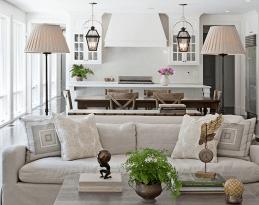 60 Farmhouse Living Room Lighting Ideas Decor And Design (1)