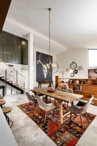 60 Modern Farmhouse Dining Room Table Ideas Decor And Makeover (22)