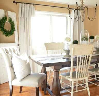 60 Modern Farmhouse Dining Room Table Ideas Decor And Makeover (36)