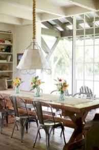 60 Modern Farmhouse Dining Room Table Ideas Decor And Makeover (39)
