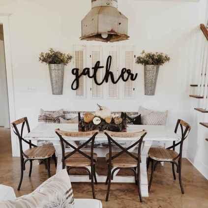 60 Modern Farmhouse Dining Room Table Ideas Decor And Makeover (54)