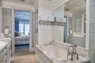 70 Inspiring Farmhouse Bathroom Shower Decor Ideas And Remodel (16)