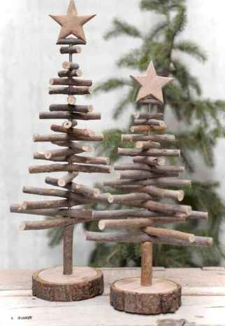 30 Rustic And Vintage Christmas Tree Decor Ideas (13)