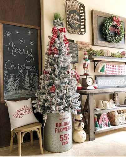 30 Rustic And Vintage Christmas Tree Decor Ideas (27)