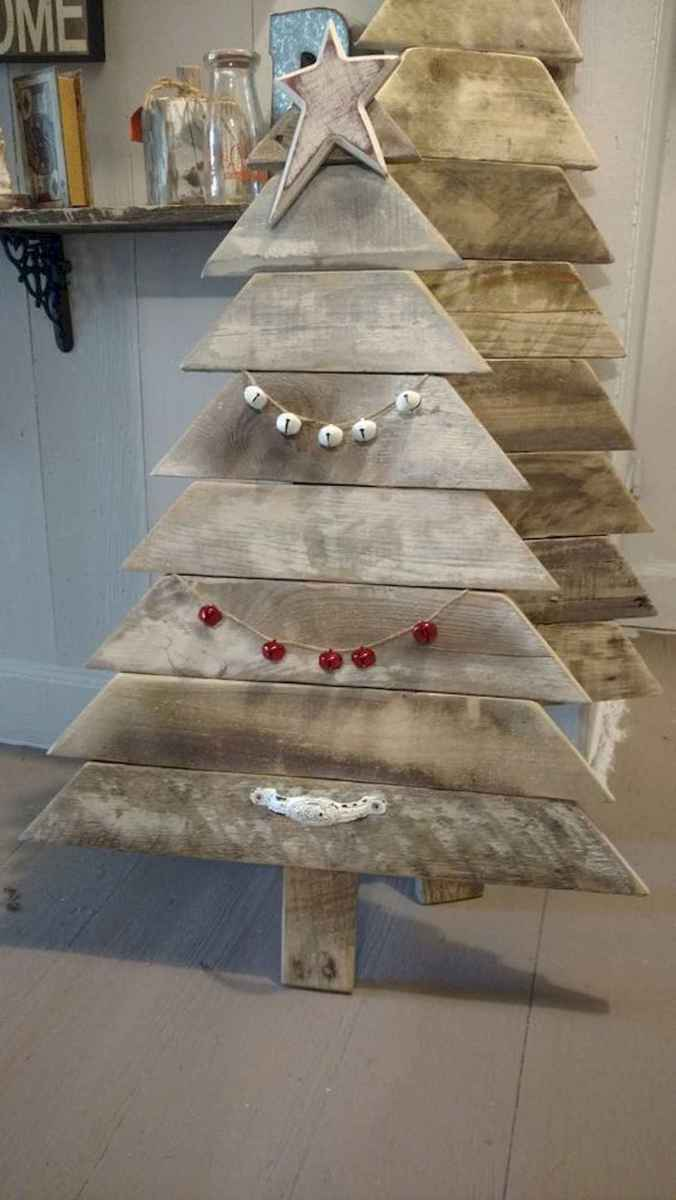 30 Rustic And Vintage Christmas Tree Decor Ideas (3)