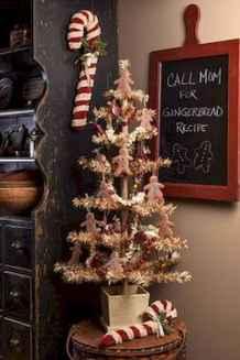 30 Rustic And Vintage Christmas Tree Decor Ideas (7)