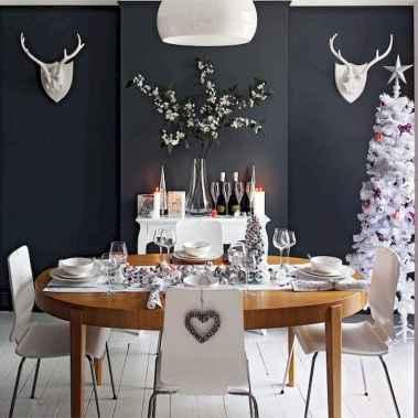 50 Stunning Christmas Table Dining Rooms Decor Ideas (12)