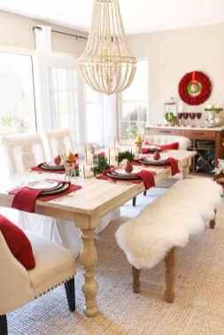50 Stunning Christmas Table Dining Rooms Decor Ideas (13)