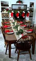 50 Stunning Christmas Table Dining Rooms Decor Ideas (37)