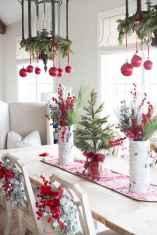50 Stunning Christmas Table Dining Rooms Decor Ideas (38)