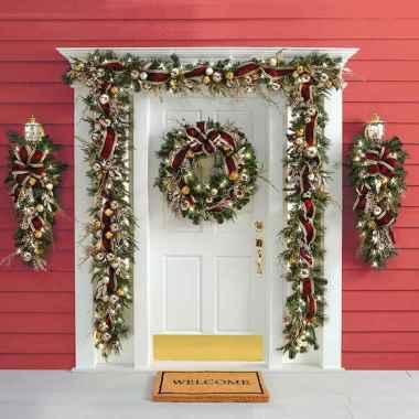 50 Stunning Front Porch Christmas Lights Decor Ideas (13)