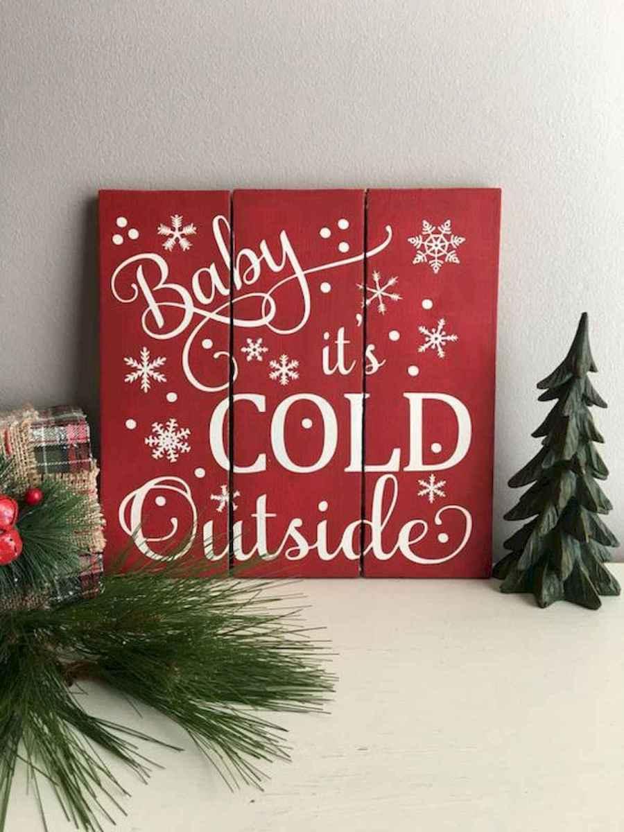 60 Awesome Wall Art Christmas Decor Ideas (41)