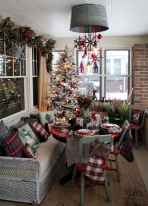 60 Simple Living Room Christmas Decor Ideas (3)