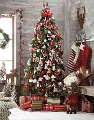60 Simple Living Room Christmas Decor Ideas (57)