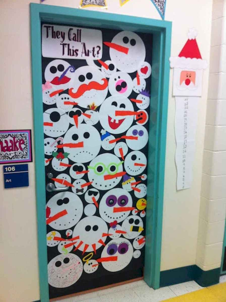 40 Simple Diy Christmas Door Decorations For Home And School